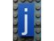 Part No: Mx1042pb06  Name: Modulex Tile 2 x 4 with White 'j' Pattern