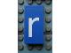 Part No: Mx1042pb07  Name: Modulex, Tile 2 x 4 with White 'r' Pattern