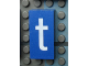 Part No: Mx1042pb08  Name: Modulex, Tile 2 x 4 with White 't' Pattern