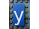 Part No: Mx1042pb10  Name: Modulex, Tile 2 x 4 with White 'y' Pattern