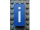 Part No: Mx1042pb37  Name: Modulex, Tile 2 x 4 with White 'i' Pattern