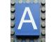 Part No: Mx1043pb01  Name: Modulex Tile 3 x 4 with White 'A' Pattern