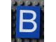 Part No: Mx1043pb02  Name: Modulex Tile 3 x 4 with White 'B' Pattern
