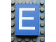 Part No: Mx1043pb05  Name: Modulex Tile 3 x 4 with White 'E' Pattern