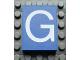 Part No: Mx1043pb07  Name: Modulex Tile 3 x 4 with White 'G' Pattern