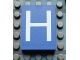 Part No: Mx1043pb08  Name: Modulex Tile 3 x 4 with White 'H' Pattern