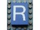 Part No: Mx1043pb16  Name: Modulex Tile 3 x 4 with White 'R' Pattern