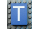 Part No: Mx1043pb18  Name: Modulex Tile 3 x 4 with White 'T' Pattern