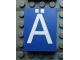 Part No: Mx1043pb24  Name: Modulex Tile 3 x 4 with White 'Ä' Pattern