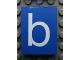 Part No: Mx1043pb39  Name: Modulex Tile 3 x 4 with White 'b' Pattern