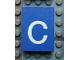 Part No: Mx1043pb40  Name: Modulex Tile 3 x 4 with White 'c' Pattern
