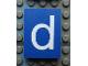 Part No: Mx1043pb41  Name: Modulex Tile 3 x 4 with White 'd' Pattern