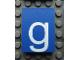 Part No: Mx1043pb43  Name: Modulex, Tile 3 x 4 with White 'g' Pattern
