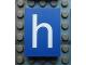 Part No: Mx1043pb44  Name: Modulex Tile 3 x 4 with White 'h' Pattern