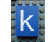 Part No: Mx1043pb45  Name: Modulex, Tile 3 x 4 with White 'k' Pattern