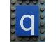 Part No: Mx1043pb49  Name: Modulex, Tile 3 x 4 with White 'q' Pattern
