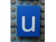 Part No: Mx1043pb52  Name: Modulex, Tile 3 x 4 with White 'u' Pattern