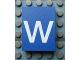 Part No: Mx1043pb53  Name: Modulex, Tile 3 x 4 with White 'w' Pattern