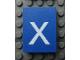 Part No: Mx1043pb54  Name: Modulex, Tile 3 x 4 with White 'x' Pattern