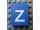 Part No: Mx1043pb55  Name: Modulex, Tile 3 x 4 with White 'z' Pattern