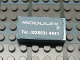 Part No: Mx1042pb36  Name: Modulex Tile 2 x 4 with Modulex Logo and Telephone Details Pattern (Sticker)