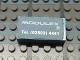 Part No: Mx1042pb36  Name: Modulex, Tile 2 x 4 with Modulex Logo and Telephone Details Pattern (Sticker)