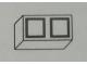 Part No: Mx1021Apb79  Name: Modulex Tile 1 x 2 with Black Squares Pattern