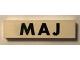 Part No: Mx1082pb13  Name: Modulex Tile 2 x 8 with Black Month 'MAJ' Pattern