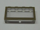 Part No: Mx1542pb04  Name: Modulex Window 1 x 4 x 2 with Brown Border Pattern