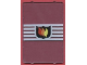 Part No: 2494pb07  Name: Glass for Window 1 x 4 x 5 with Fire Logo Pattern