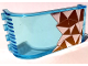 Part No: 2571pb10  Name: Panel 3 x 4 x 6 Curved Top with Silver and Gold Triangles Mosaic Pattern (Sticker) - Set 41106