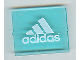 Part No: 3855pb009  Name: Glass for Window 1 x 4 x 3 with White Adidas Pattern (Sticker) - Set 3426