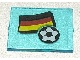 Part No: 3855pb010  Name: Glass for Window 1 x 4 x 3 with Flag of Germany and Soccer Ball Pattern (Sticker) - Set 3404