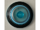 Part No: 3960pb049  Name: Dish 4 x 4 Inverted (Radar) with Solid Stud with Black, Light Blue and Metallic Silver Circles Pattern
