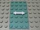 Part No: 57895pb014  Name: Glass for Window 1 x 4 x 6 with White Arrow Double Pattern (Sticker) - Set  7945