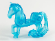 Part No: 58484c01pb01  Name: Horse with 2 x 2 Cutout, Long Swooshy Tail with Metallic Blue Eyes Pattern