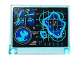 Part No: 60603pb016  Name: Glass for Window 1 x 4 x 3 - Opening with Display with Dinosaur Scan Pattern (Sticker) - Set 75931