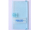 Part No: 60616pb005  Name: Door 1 x 4 x 6 with Stud Handle with 'POLIZEI' Blue on White Stripes Pattern (Sticker) - Set 7744