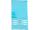 Part No: 60616pb013  Name: Door 1 x 4 x 6 with Stud Handle with Police Badge on 3 White Stripes Bottom Pattern (Sticker) - Set 60069