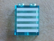 Part No: 87552pb015  Name: Panel 1 x 2 x 2 with Side Supports - Hollow Studs with 5 White Stripes Pattern (Sticker) - Set 60023