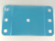 Part No: clikits067  Name: Clikits Plastic, Rectangle 8 1/2 x 14 with Rounded Corners and 7 Holes