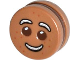 Part No: 14396c01pb01  Name: Minifigure, Head Modified Gingerbread Man Pattern