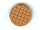 Part No: 14769pb023  Name: Tile, Round 2 x 2 with Bottom Stud Holder with Waffle Pattern
