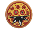Part No: 14769pb163  Name: Tile, Round 2 x 2 with Bottom Stud Holder with Pizza Pepperoni Scary Face Pattern