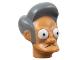 Part No: 15655pb01  Name: Minifigure, Head Modified Simpsons Apu Nahasapeemapetilon Pattern