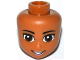 Part No: 19690  Name: Mini Doll, Head Friends with Brown Eyes, Bright Pink Lips and Open Mouth Pattern