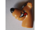 Part No: 20691pb05  Name: Dog Head Great Dane Scooby-Doo with Black Nose, Smile on Both Sides and Tongue Pattern