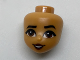 Part No: 29761  Name: Mini Doll, Head Friends with Dark Brown Eyes and Lips, Open Smile Pattern (Moana)