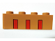 Part No: 3010pb290  Name: Brick 1 x 4 with Three Partial Red Stripes Pattern