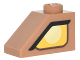 Part No: 3040pb015L  Name: Slope 45 2 x 1 with Yellow Clayface Eye Pattern Model Left Side